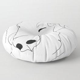 Great Dane Sketch Floor Pillow
