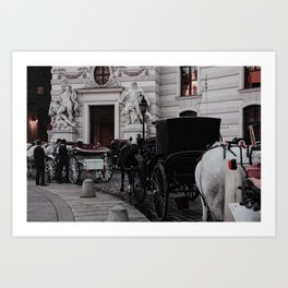 horse by Sergio Rodriguez - Portugues del Olmo Art Print