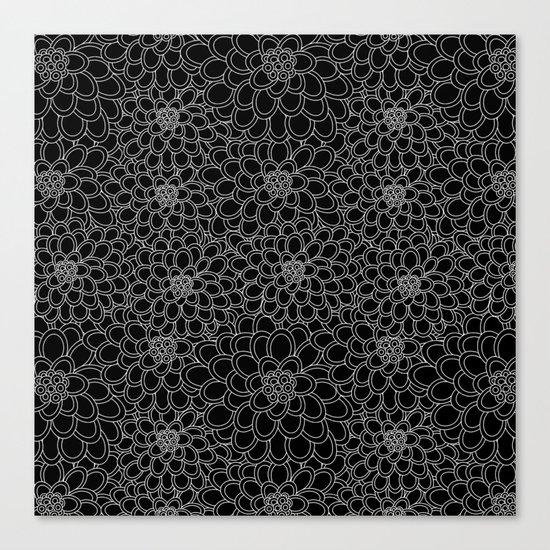 """""""Black flowered tree"""". Canvas Print"""