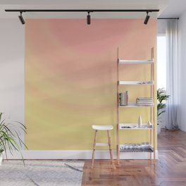 Pastel Millennial Pink Yellow Circle Ombre Gradient Pattern Wall Mural