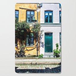 Danish Building Facades in Colourful Sunny Copenhagen Cutting Board
