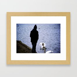 Swans in Germany Framed Art Print