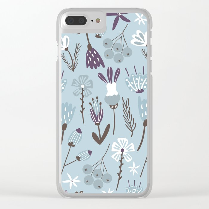 Little blue Clear iPhone Case