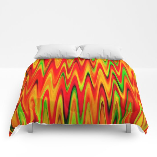 WAVY #1 (Reds, Oranges, Yellows & Greens) Comforters