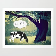 You Can't Take the Lab Out of the Cow Art Print