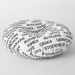 Citytype No.1 - White Floor Pillow