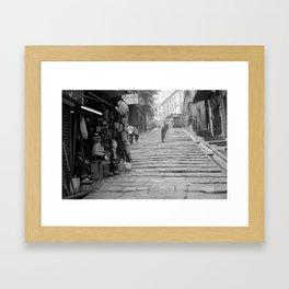 Pottinger Street Hong Kong  Framed Art Print
