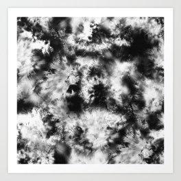 Black and White Tie Dye & Batik Art Print