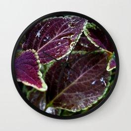 Purple Velvet - The Garden Series Wall Clock