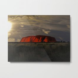An Outback Sunset Metal Print