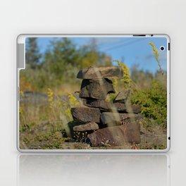 Inukshuk on top of a mountain Laptop & iPad Skin