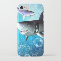 shark iPhone & iPod Cases featuring Shark by nicky2342