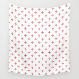 Christmas Heart Snowflakes Red & White Wall Tapestry