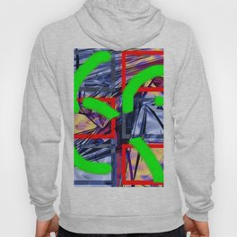 Collage with Mylar effect Hoody