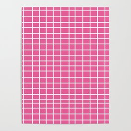 Squares of Pink Poster