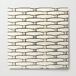 Natural Woven Cane Metal Print