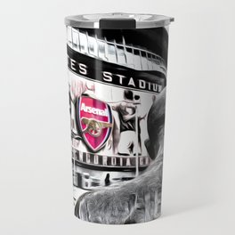 Thierry Henry Statue Emirates Stadium Art Travel Mug