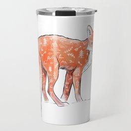 A forest fox Travel Mug