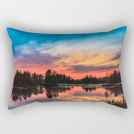 Summer Sunset over Lake Rectangular Pillow