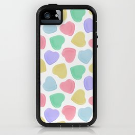 Candy Conversation Hearts Pattern iPhone Case