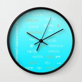 Love speaks in every language Wall Clock
