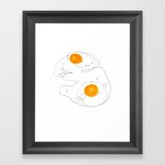 Eggs for breakfast Framed Art Print