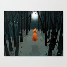 Woods Girl Canvas Print
