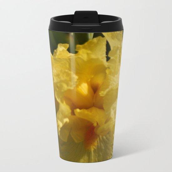 Iris - Yellow Metal Travel Mug