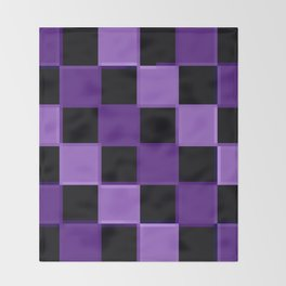 Purple ChEckerBoard Throw Blanket