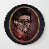 crowley Wall Clocks featuring Crowley by Abbi Laura