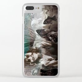 EMERALD SKIES Clear iPhone Case