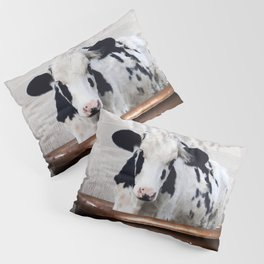 Cow with Rubber Ducky in Vintage Bathtub Pillow Sham