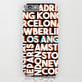L.A. - City names typo graphic iPhone Case