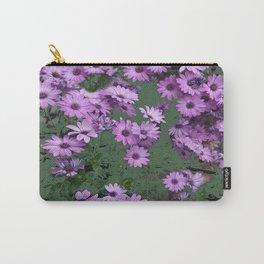 Lilac & Sage Color Purple Flowers Garden Carry-All Pouch