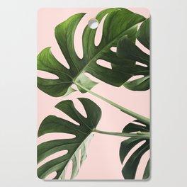 Monstera x Pink Cutting Board
