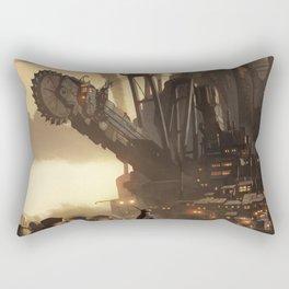 Steampunk Abstract Painting Rectangular Pillow