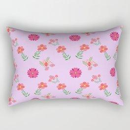 flowers rosas rose pink Rectangular Pillow