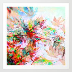 Abstract Autumn Art Print