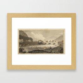 Jacques Gerard Milbert, Aqueduct Bridge at Little Falls Framed Art Print