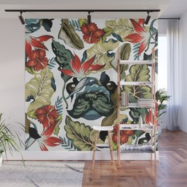 Tropical Frenchie Wall Mural