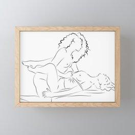 Minas - female love Framed Mini Art Print