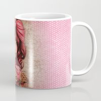 strawberry Mugs featuring Strawberry  by Sheena Pike ART