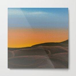 Desert at Dawn / Oil Painting Metal Print