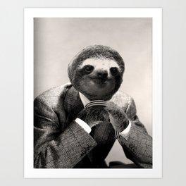 Gentleman Sloth #3 Art Print