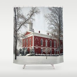 Side View of the Iron County Courthouse Shower Curtain