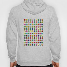 Multi-coloured Pills Pattern square Hoody