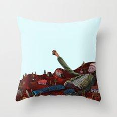 the builder Throw Pillow