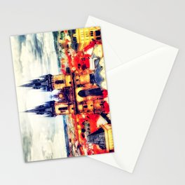 Prague Church Of Our Lady Before Tyn Watercolor Stationery Cards