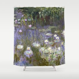 Water Lilies 1922 by Claude Monet Shower Curtain