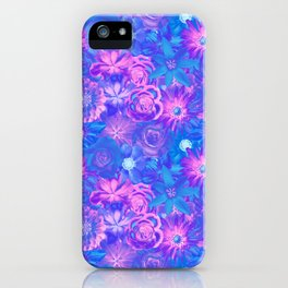 Dazzling Flowers - Red Passion Enchanted Flowers iPhone Case